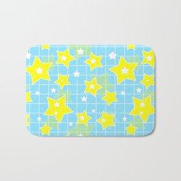 #Yellow #blue #stars Bath Mat