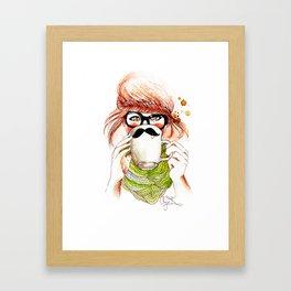 Chai & Cozy Knits. Framed Art Print
