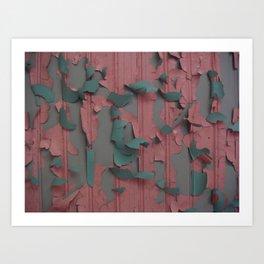 paint peel 1 Art Print