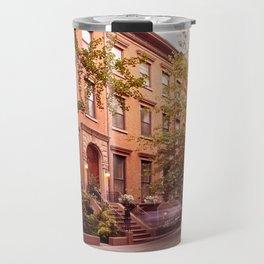 Brooklyn Heights at dusk Travel Mug
