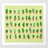 Cactus Crew Art Print