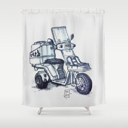 Honda delivery scooter japan Shower Curtain