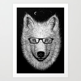 WHITE SPECTACLE Art Print