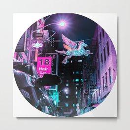 Neon Pegasus Metal Print
