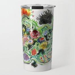 Crowded Floral Travel Mug