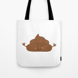 Meditating poo Tote Bag