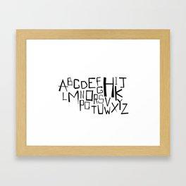 Alphabet #2 Framed Art Print