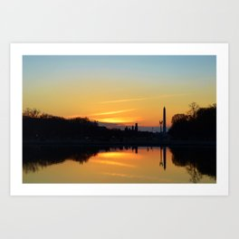 Sunset On Capitol Hill Art Print