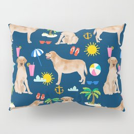 Yellow Lab labrador retriever dog breed beach summer vacation dog gifts Pillow Sham