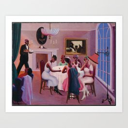 """African-American Classical Masterpiece """"Cocktails"""" by Archibald Motley Art Print"""