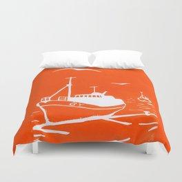 Comrades in Orange Duvet Cover