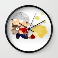 knight Wall Clocks featuring knight by Alapapaju