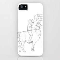 Follow that llama ! Slim Case iPhone (5, 5s)