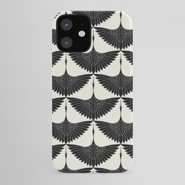 CRANE DESIGN - pattern - Black and White iPhone Case