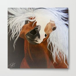Neigh-belline Metal Print