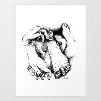 Desordre corporel - illustration strange dots  Art Print