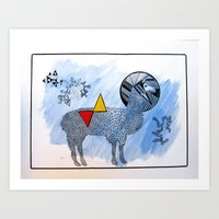 lama Art Prints featuring LAMA. by FRAN MONDELLO