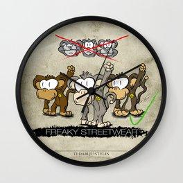 Protest Monkeys Wall Clock