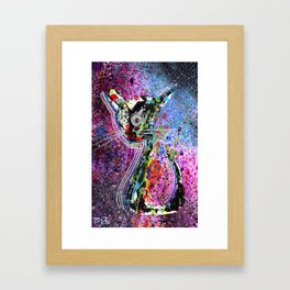 Cosmic Cat Framed Art Print