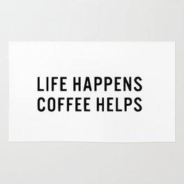 Life happens coffee helps Rug