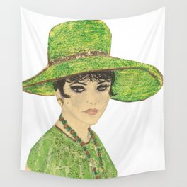 Lady In Green Wall Tapestry