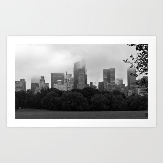 fog in city... Art Print