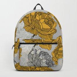 Linear flower of roses Backpack