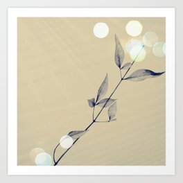 lonely leaves  Art Print