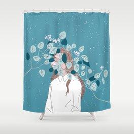 hibernation Shower Curtain
