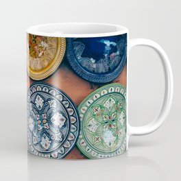 Arabic Moroccan Plates on Wall in Marrakech Coffee Mug
