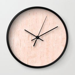 Elegant blush pink rose gold brushstrokes Wall Clock