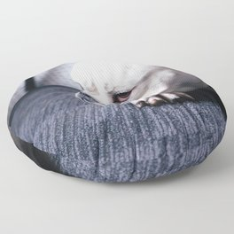 Cute puppy by meredith hunter Floor Pillow