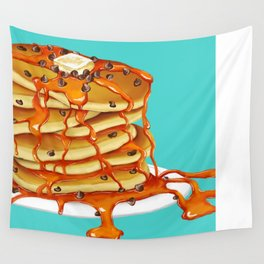 Ooey Gooey Chocolate Chip Pancakes Wall Tapestry