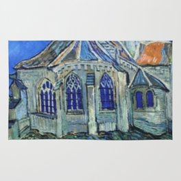 The Church at Auvers Vincent Van Gogh Rug