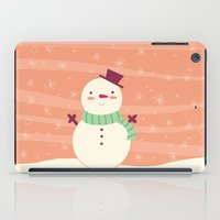 snowman iPad Cases featuring Snowman by Claire Lordon