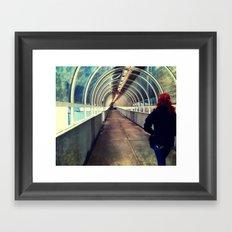 Onward Into The Tunnel Forbidden  Framed Art Print