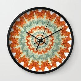 bouuet of butterflies Wall Clock