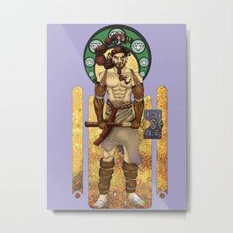 Aule Art Nouveau Metal Print
