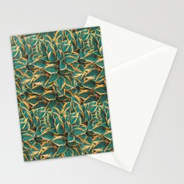 Plantain Lily Foliage Plant Pattern Stationery Cards