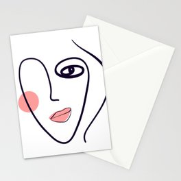 cute face, mode, payment, form, mood Stationery Cards