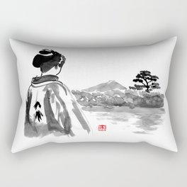 geisha's watching Rectangular Pillow