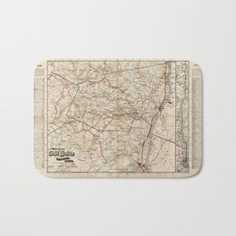 Catskill Mountains Map Bath Mat