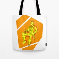 nietzsche Tote Bags featuring The Dawn of Nietzsche by Duessa