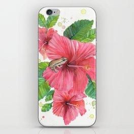Coqui Frog & Hibiscus Flower iPhone Skin