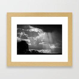 Sun Shower, Kelvin, NSW, Australia Framed Art Print