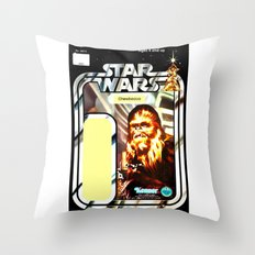 Chewbacca Vintage Action Figure Card Throw Pillow