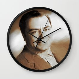 Hollywood Classics, Ernest Borgnine, Actor Wall Clock