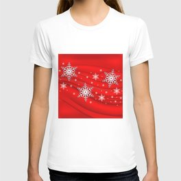 Abstract background with snowflakes T-shirt