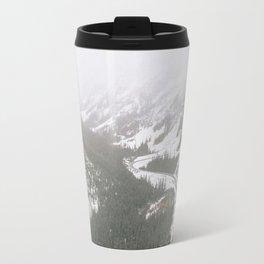 Snowy Mountain Road Travel Mug
