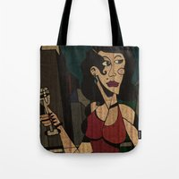 noir Tote Bags featuring Noir by Matt Jeffs